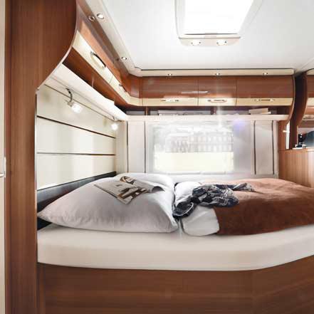 lmc maestro 2016 caravan nieuw slaapkamer