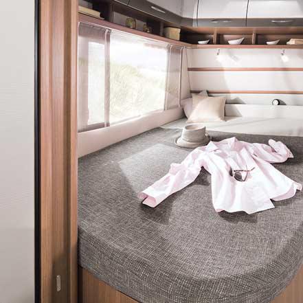 lmc vivo 2016 caravan nieuw slaapkamer